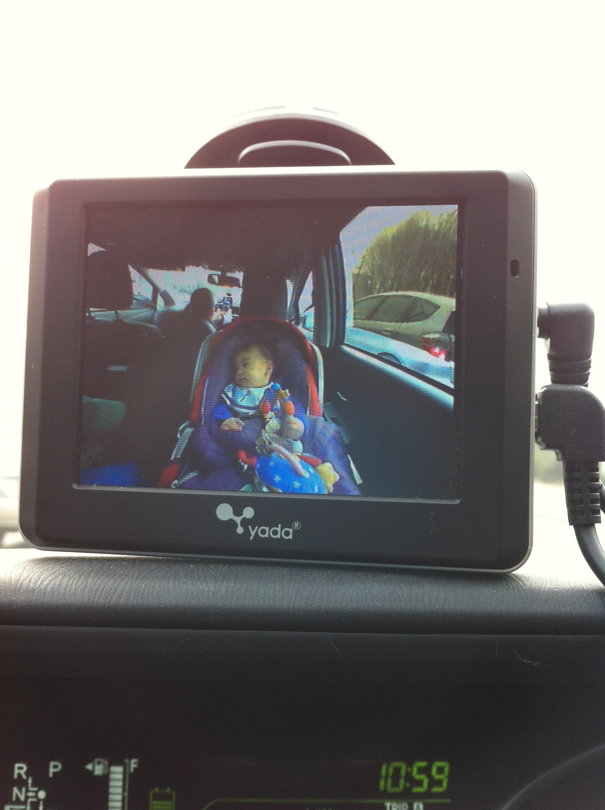 Baby Car Seat Mirror >> Guest review of the Yada Tiny Traveler Baby Monitor for Your Car
