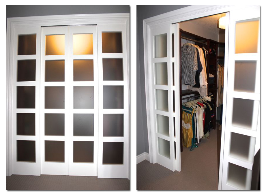Milette Panel Doors Create Faux Pocket Door