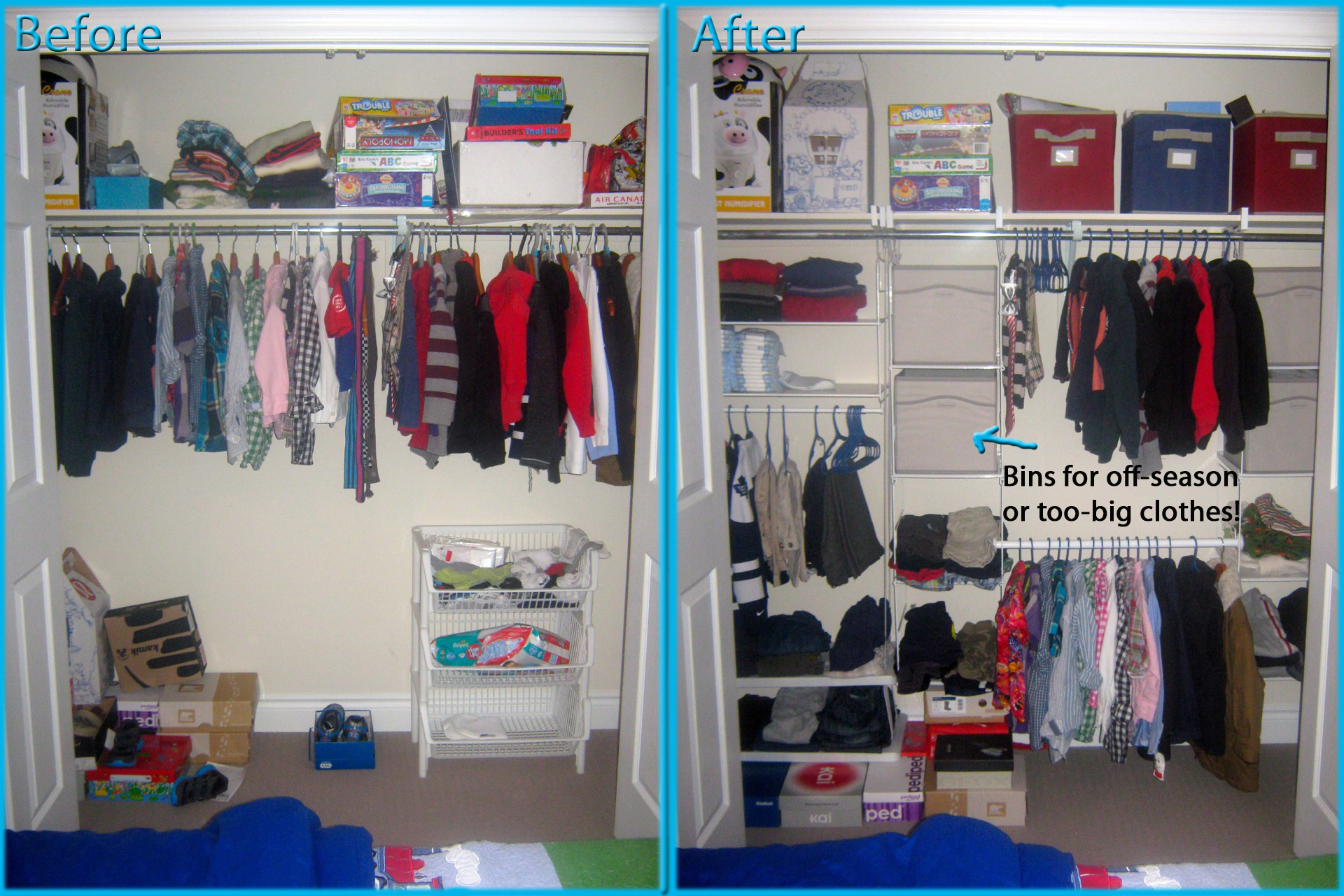 Closet Organization On Any Budget