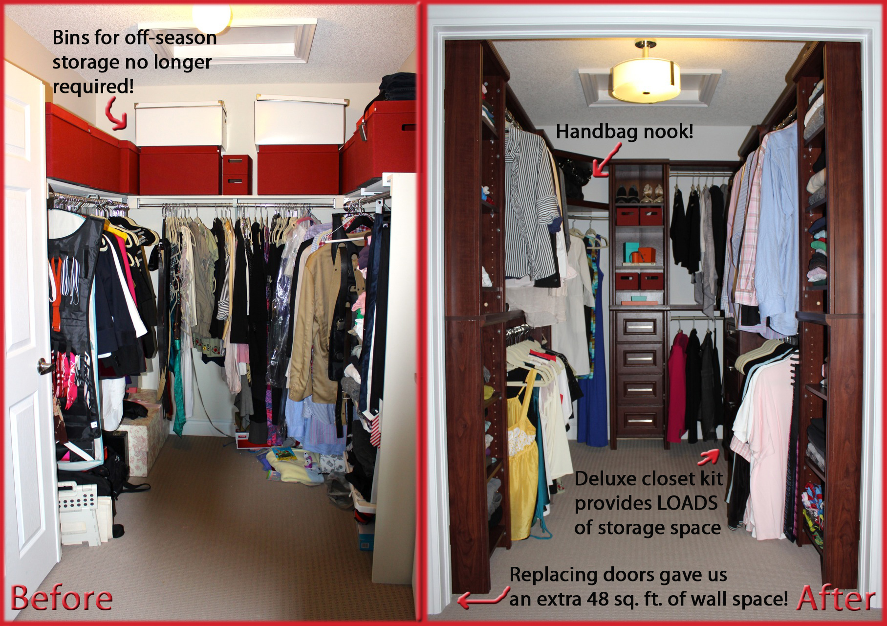 closetmaid impressions before after - Closet Design Home Depot