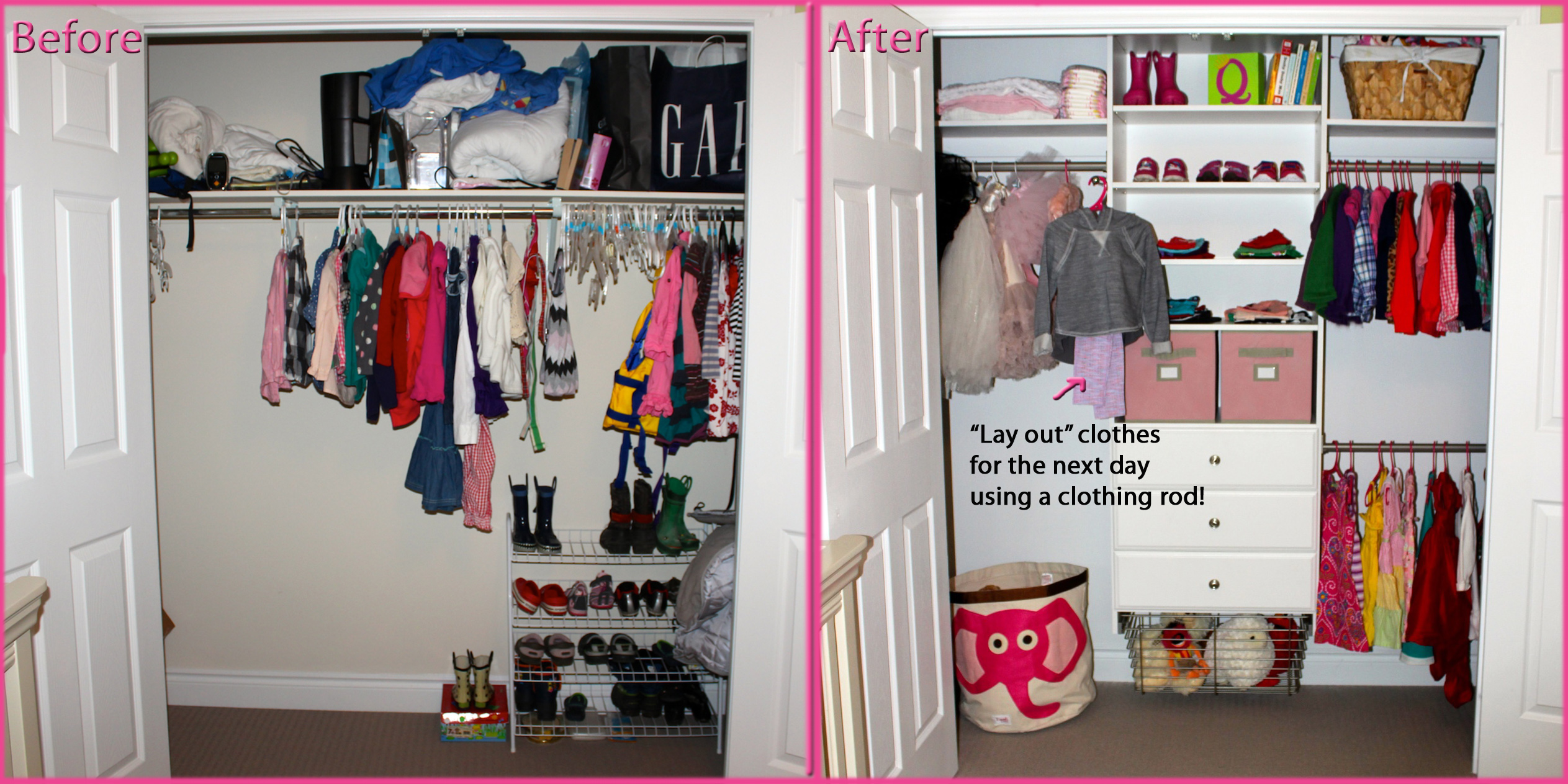 Martha Stewart Living closet (before u0026 after)