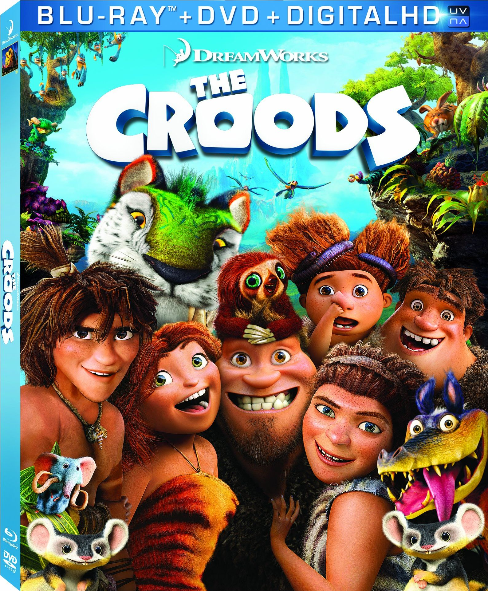 the croods on blu-ray and dvd combo pack |