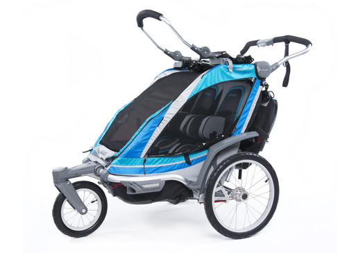 Chariot blue coloured bike trailer