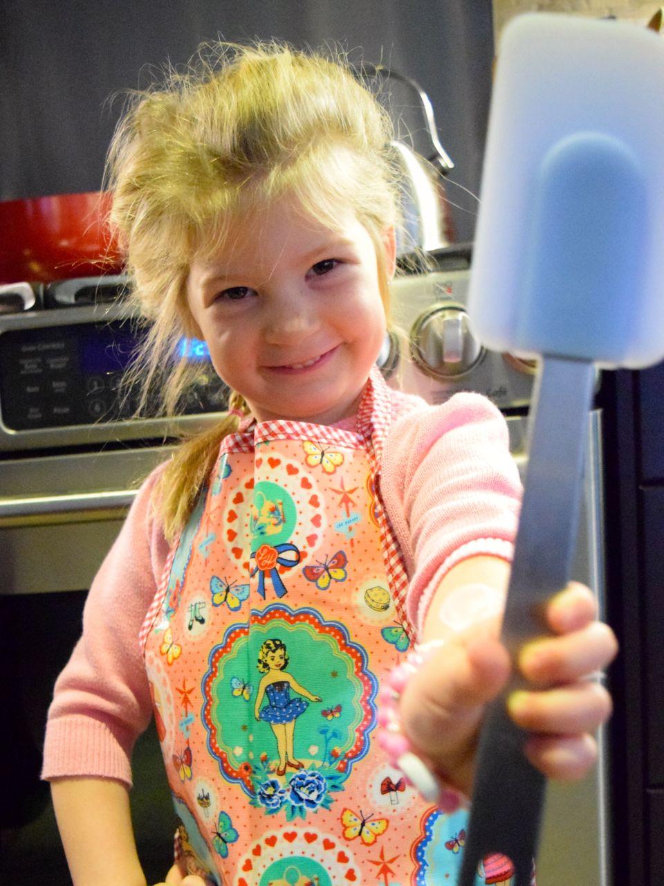 Lou Harvey kids' apron
