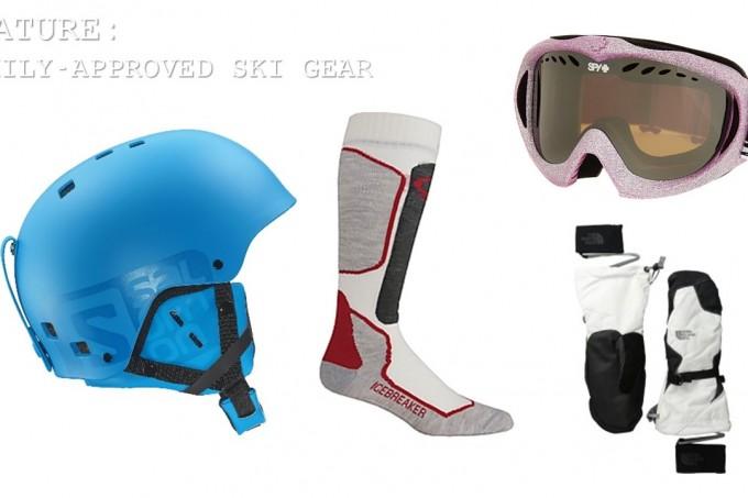Ski gear feature
