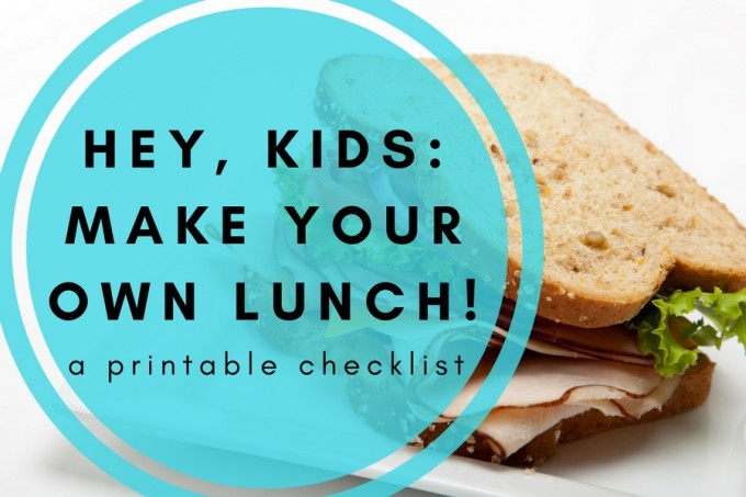 Lunch checklist for kids