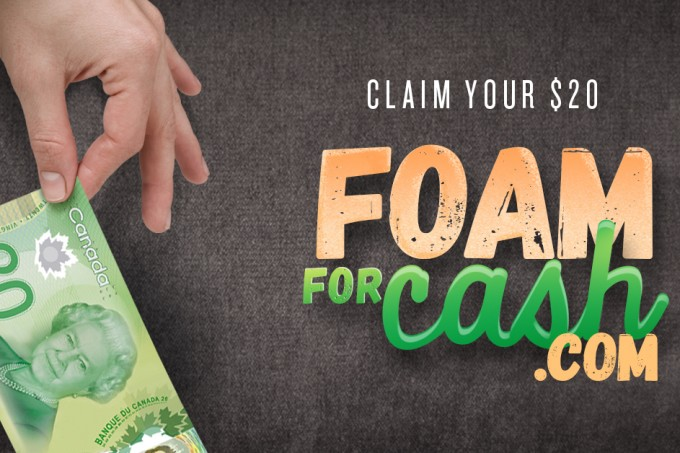 Foam for Cash claims
