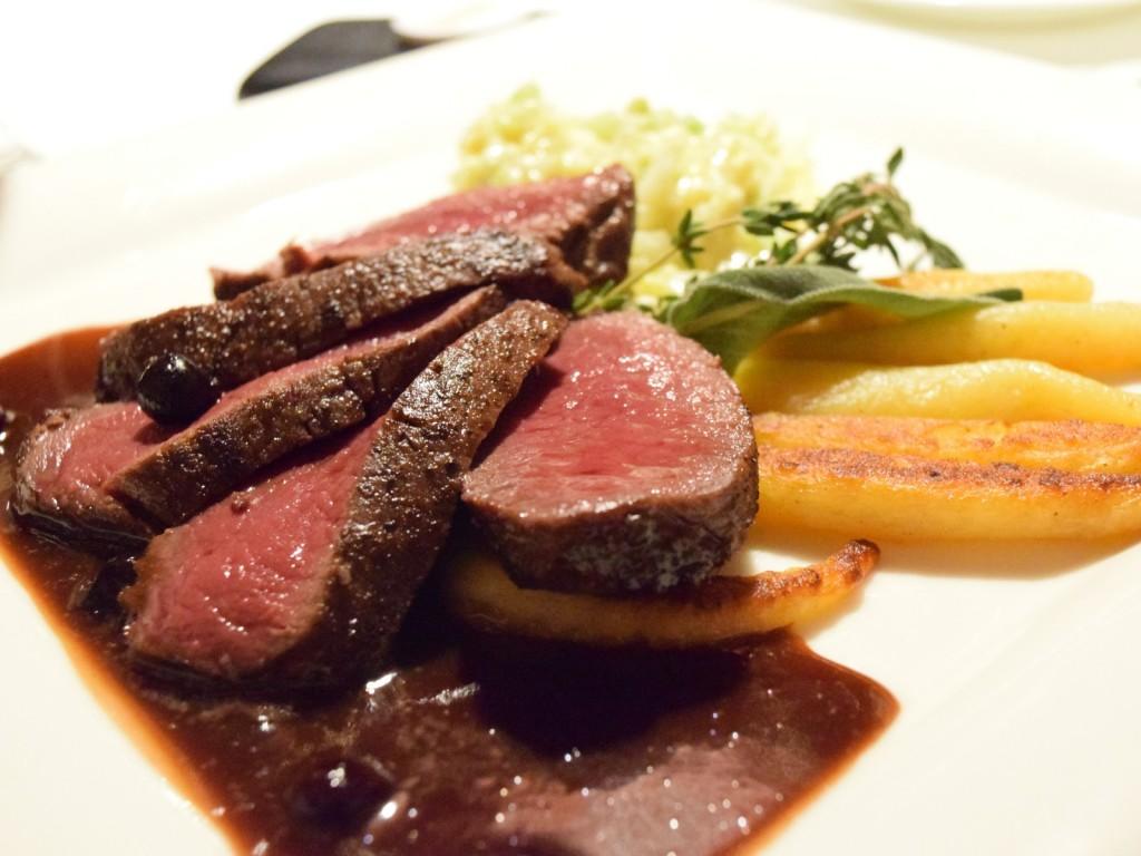 Post Hotel caribou steak