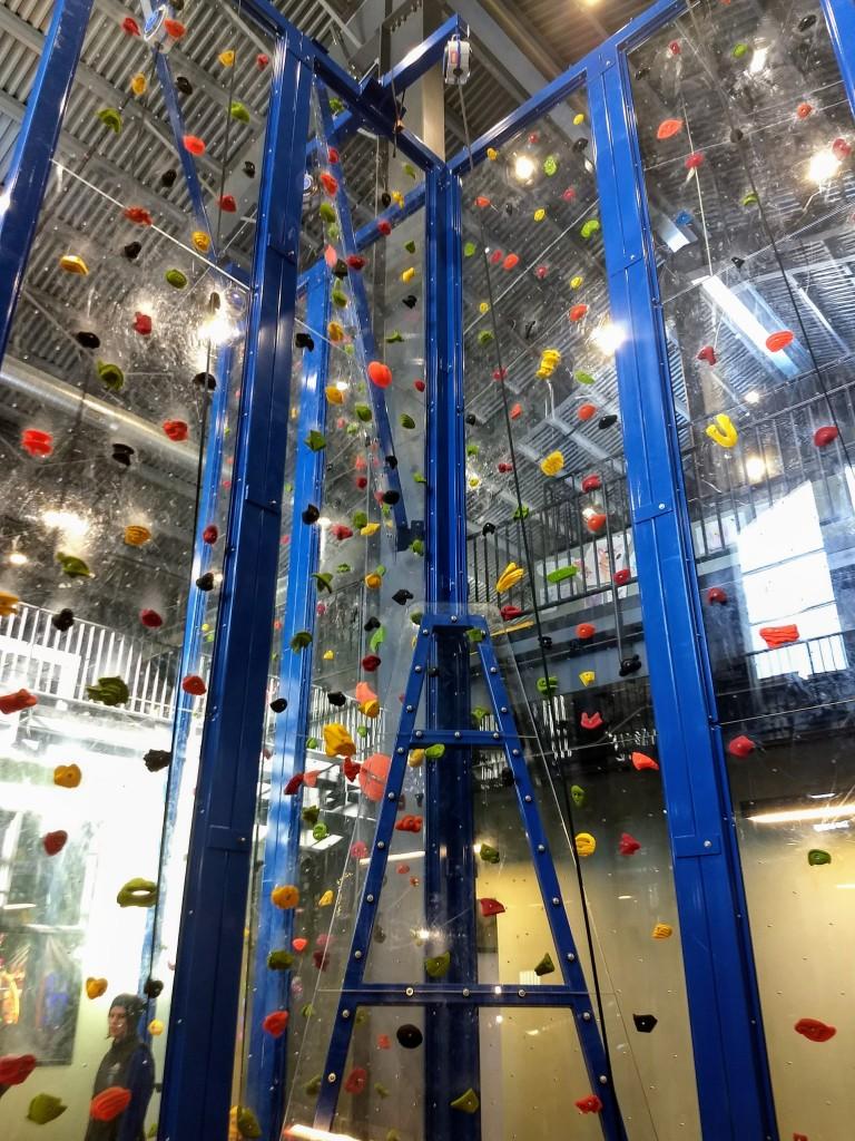 Climbing wall at Smugglers' Notch Resort's FunZone 2.0