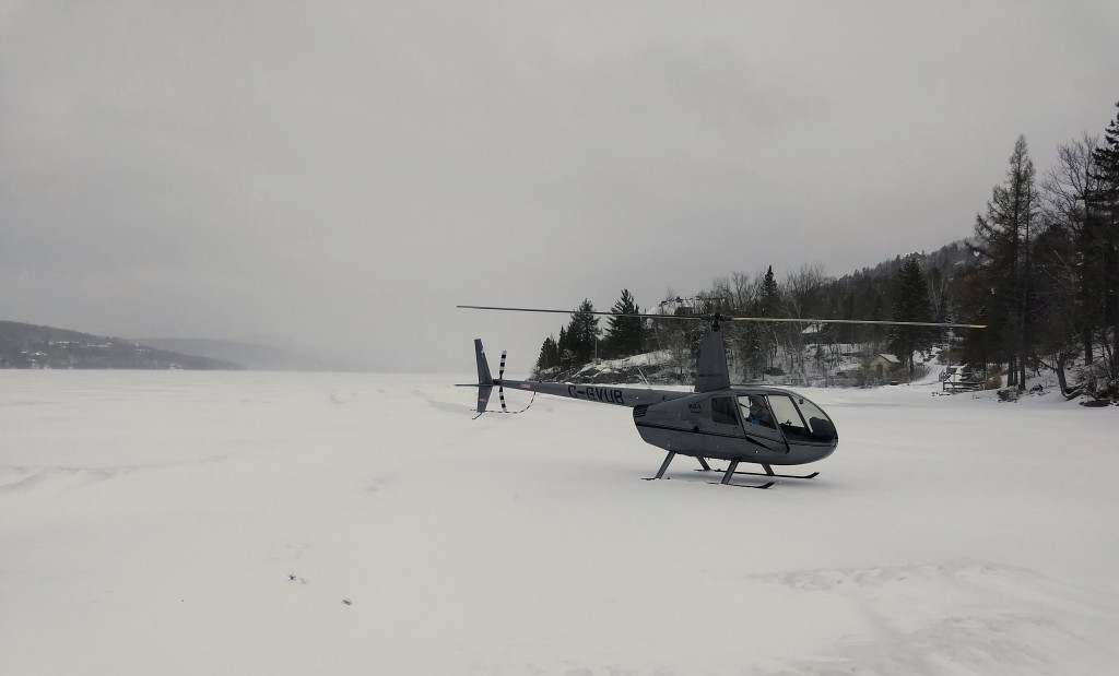 Helicopter tour Tremblant